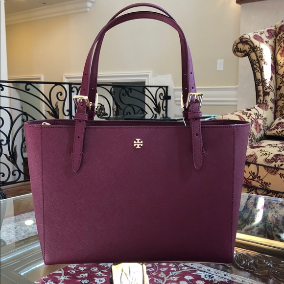 8d51c14500ef NWT Tory Burch Emerson Small Buckle Tote handbag